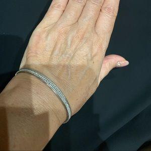 Judith Ripka sterling silver bangle